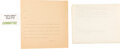 Political:Small Paper (1896-present), John F. Kennedy: Assassination Teletype and Committee Badge. ...