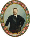 Political:3D & Other Display (1896-present), Theodore Roosevelt: Colorful Lithographed Tin Tray....