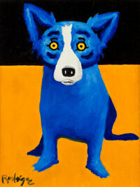 George Rodrigue (1944-2013) Code Blue, 1995 Oil on canvas 14 x 11 inches (35.6 x 27.9 cm) Sign
