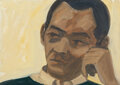 Paintings, Alex Katz (b. 1927). Study for Portrait of Kynaston McShine. Oil on board. 10 x 14 inches (25.4 x 35.6 cm). Signed lower...