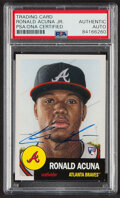 Autographs:Sports Cards, Signed 2018 Topps Living Ronald Acuña Jr. #19 PSA/DNA Authentic Auto....
