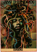 Music Memorabilia:Posters, Jimi Hendrix Experience 1969 Gunther Kieser Famous Wire-Hair Concert Poster (AOR-3.185)....