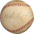 Baseball Collectibles:Balls, 1934 Tour of Japan Partial Team Signed Baseball with Ruth, Gehrig & Foxx....