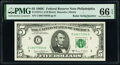 Small Size:Federal Reserve Notes, Radar Serial Number 49677694 Fr. 1972-C $5 1969C Federal Reserve Note. PMG Gem Uncirculated 66 EPQ.. ...