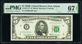 Small Size:Federal Reserve Notes, Fr. 1971-F* $5 1969B Federal Reserve Note. PMG Superb Gem ...