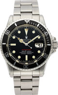 "Timepieces:Wristwatch, Rolex, Ref. 1680 ""Red"" Submariner, Mark IV Dial Feet First..."