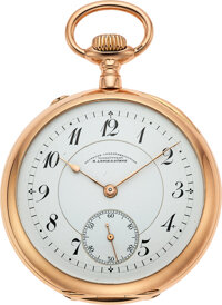 A. Lange & Söhne, Superb Gold Caliber 43 Pocket Watch, Full Set, circa 1907