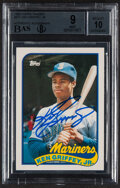 Autographs:Sports Cards, Signed 1989 Topps Traded Ken Griffey Jr. #41T BGS Mint 9, BAS Auto 10....