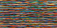 Sol LeWitt (1928-2007) Horizontal Lines In Color Superimposed #9, 2006 Monoprint/linocut on paper 24 x 48 inches (61