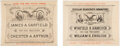 Political:Small Paper (pre-1896), Garfield & Arthur and Hancock & English: Jugate Street Banner Advertisements.... (Total: 2 Items)