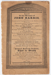 "[John Quincy Adams]: Anti-Jackson ""Coffin Handbill"" Booklet"