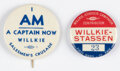 """Political:Pinback Buttons (1896-present), Wendell Willkie: Pair of """"Better"""" Buttons.... (Total: 2 Items)"""