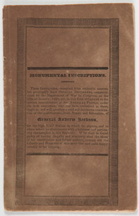 "[John Quincy Adams]: Booklet of ""Coffin Handbills"""