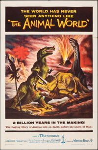 "The Animal World (Warner Bros., 1956). Folded, Very Fine-. One Sheet (27"" X 41"") Gustav Rehberger Artwork. Doc..."