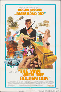 """The Man with the Golden Gun (United Artists, 1974). Folded, Fine/Very Fine. One Sheet (27"""" X 41"""") Robert McGin..."""