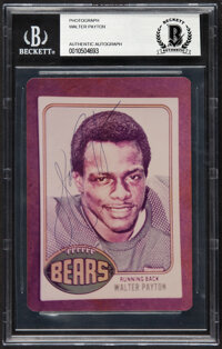 Circa 1983 Walter Payton Signed Photograph, BGS Authentic