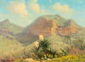 Paintings, G. Harvey (American, 1933-2017). Chisos Mountains, 1973. Oil on canvas . 9-1/4 x 12 inches (23.5 x 3...