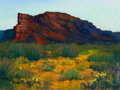 Works on Paper, Michael Etie (American, b. 1948). Cap Rock Canyon State Park. Pastel on paper. 12 x 16 inches (30.5 x 40.6 cm) (sight). ...