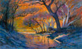 Works on Paper, Michael Etie (American, b. 1948). Texas Creek Bed. Pastel on paper. 18 x 30 inches (45.7 x 76.2 cm) ...