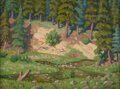 Paintings, Fred Darge (American, 1900-1978). Texas Pines. Oil on canvasboard. 9 x 12 inches (22.9 x 30.5 cm)