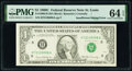 Error Notes:Inking Errors, Insufficient Inking of Face Printing Error Fr. 1906-H $1 1969C Federal Reserve Note. PMG Choice Uncirculated 64 EPQ.. ...