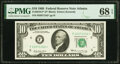 Small Size:Federal Reserve Notes, Fr. 2018-F* $10 1969 Federal Reserve Star Note. PMG Superb Gem Unc 68 EPQ.. ...