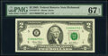 Small Size:Federal Reserve Notes, Low Serial Number 3753 Fr. 1937-E* $2 2003 Federal Reserve Star Note. PMG Superb Gem Unc 67 EPQ.. ...
