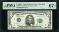 Small Size:Federal Reserve Notes, Fr. 1970-D $5 1969A Federal Reserve Note. PMG Superb Gem Unc 67 EPQ.. ...