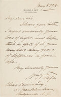 Autographs:U.S. Presidents, William Taft Autograph Letter Signed. One page of ...