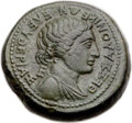 Ancients: MACEDON. Thessalonica. Marc Antony and Octavian, as Triumvirs (43-33 BC). AE (28mm, 23.49 gm, 5h). XF, altered...
