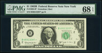 Fr. 1902-B* $1 1963B Federal Reserve Note. PMG Superb Gem Unc 68 EPQ