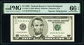 Small Size:Federal Reserve Notes, Super Repeater Serial Number 34343434 Fr. 1987-E $5 1999 Federal Reserve Note. PMG Gem Uncirculated 66 EPQ.. ...