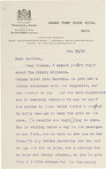 "Autographs:Authors, Rudyard Kipling Typed Letter Signed. Two pages, 5""..."