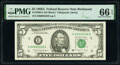 Small Size:Federal Reserve Notes, Fr. 1980-E $5 1988A Federal Reserve Note. PMG Gem Uncirculated 66 EPQ.. ...
