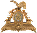 Clocks & Mechanical, A French Gilt Bronze Clock, late 19th century. 18 x 20-1/2 x 7 inches (45.7 x 52.1 x 17.8 cm). Property from the Estate ...