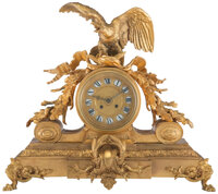 A French Gilt Bronze Clock, late 19th century 18 x 20-1/2 x 7 inches (45.7 x 52.1 x 17.8 cm)  Property fr