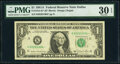 Small Size:Federal Reserve Notes, Fr. 1912-K* $1 1981A Federal Reserve Note. PMG Very Fine 30 EPQ.. ...