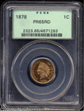 Proof Indian Cents: , 1878 1C PR65 Red PCGS. An intricately detailed specimen ...