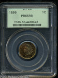Proof Indian Cents: , 1899 1C PR65 Red and Brown PCGS. Stunning luster ...