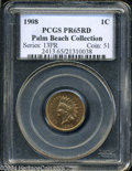 Proof Indian Cents: , 1908 1C PR65 Red PCGS. Ex: Palm Beach Collection. ...