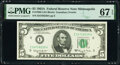 Small Size:Federal Reserve Notes, Fr. 1968-I $5 1963A Federal Reserve Note. PMG Superb Gem Unc 67 EPQ.. ...