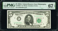 Fr. 1968-C* $5 1963A Federal Reserve Star Note. PMG Superb Gem Unc 67 EPQ