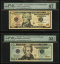 Small Size:Federal Reserve Notes, Fr. 2041-C $10 2009 Federal Reserve Note. PMG Superb Gem Unc 67 EPQ;. Fr. 2090-G $20 2004 Federal Reserve Note. PMG About ... (Total: 2 notes)