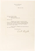 Autographs, Orville Wright Typed Letter Signed. ...