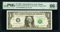 Error Notes:Miscellaneous Errors, Error Back Plate Number 129 at Left Fr. 1913-F $1 1985 Mule Federal Reserve Note PMG Gem Uncirculated 66 EPQ.. ...