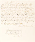 Autographs:Military Figures, Kenneth M. Murchison Oath of Allegiance Signed. ...