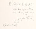 Autographs:U.S. Presidents, Jacqueline Kennedy Inscribed and Signed Presentation Copy ...