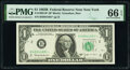 Fr. 1902-B* $1 1963B Federal Reserve Star Notes. Two Consecutive Examples. PMG Graded Gem Uncirculated 66 EPQ; Gem Uncir...