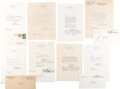 Autographs:U.S. Presidents, Harry Truman Group of Eight Typed Letters Signed and One Free Franked Envelope. ...