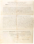 Autographs:U.S. Presidents, James Madison Land Grant Signed. One partially pr...